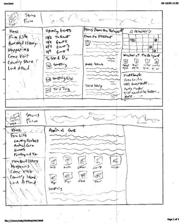 Stearns layout wireframe 4