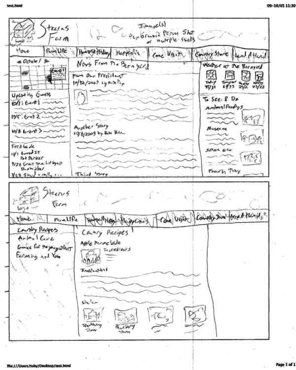 Stearns layout wireframe 2
